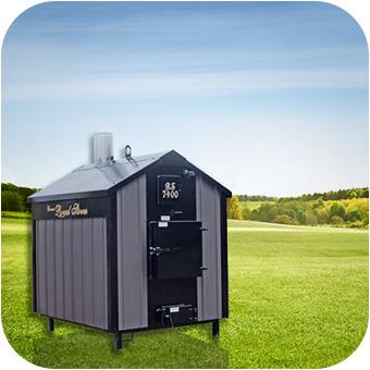 Outdoor boiler system